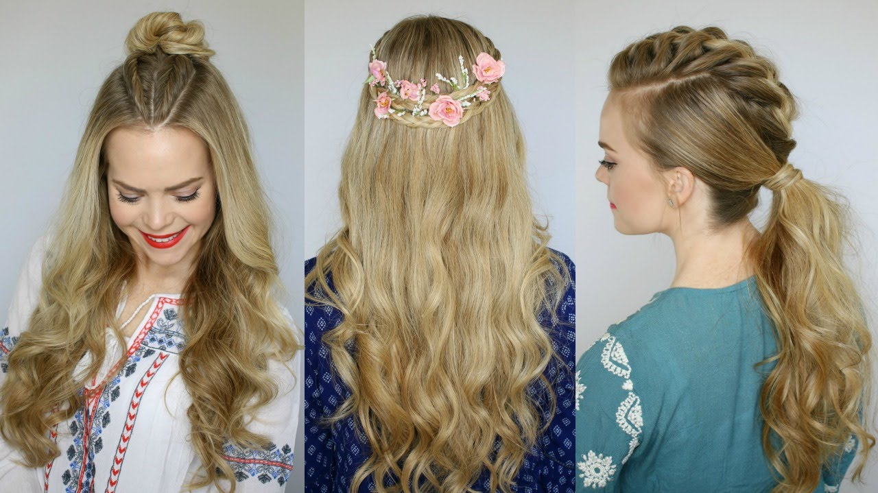 3 Coachella Inspired Hairstyles  Missy Sue  YouTube