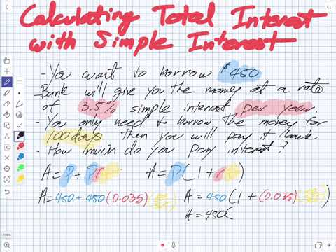 Calculating Simple Interest (Grade 11 University)