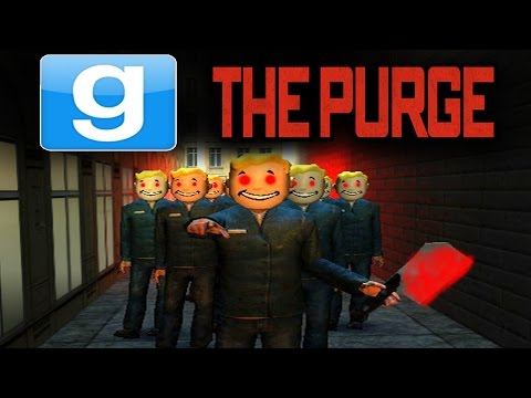 GMOD - THE PURGE EVERYONE WANTS MURDER!! Garry's Mod SCARY HUNGER GAMES!! | (GMOD Gameplay)