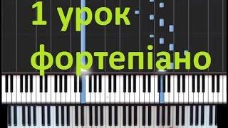 Музика по фортепіано 1 урок. Тема уроку: вивчення нот.