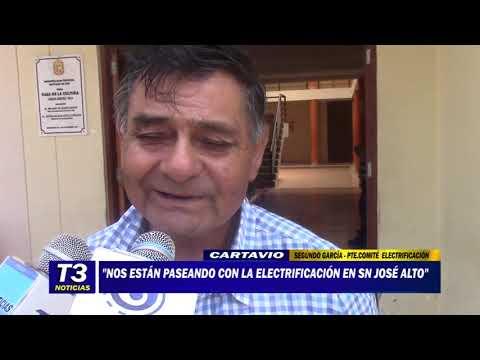 NOS ESTÁN PASEANDO CON LA ELECTRIFICACIÓN EN SAN JOSÉ ALTO