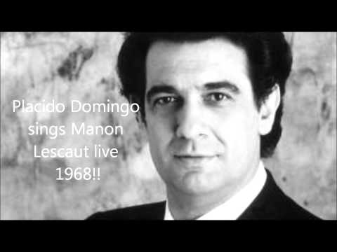Placido Domingo sings Manon Lescaut live 1968!!!  Amazing high C!!