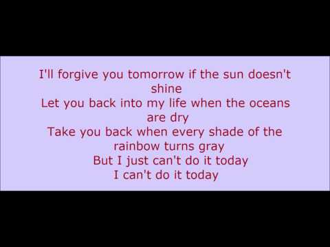 Can't Do It Today - Gary Allan (Lyrics On Screen)