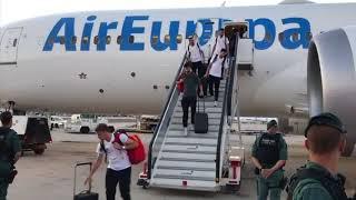 Llegada de la Selección Española a España tras su Eliminación en el Mundial de Rusia 2018