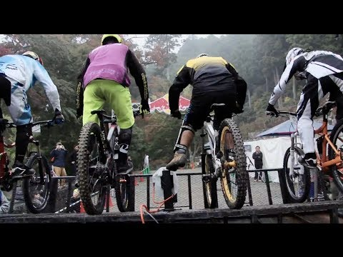 Racing through the Holy Temple in Japan