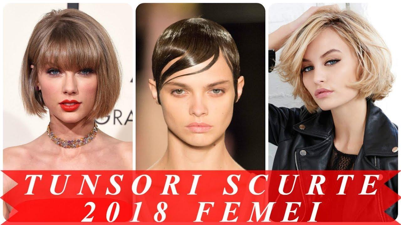 Modele De Coafuri De Vedete 2018 Par Scurt Youtube