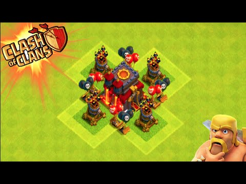 "Clash of Clans - ""AIR DEFENSE BASE"" CONTROLLING THE SKIES ..."