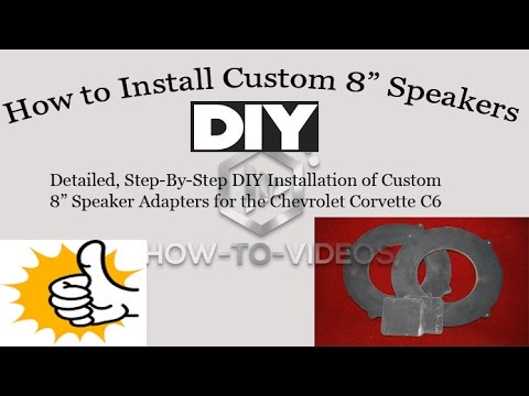 Easy Diy* - How To Install An 8 Inch Custom Speaker Template - For