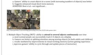 Attention video games summary of Hubert-Wallander, Green, Bavelier