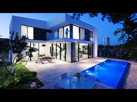 Superb Symmetrical Minimalist Modern Luxury House in Rishon LeTsiyon, Israel (by Shachar Rozenfeld)