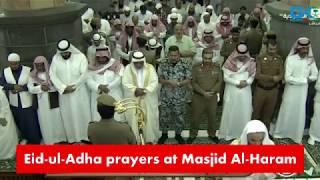 Eid-ul-Adha prayers at Masjid Al-Haram