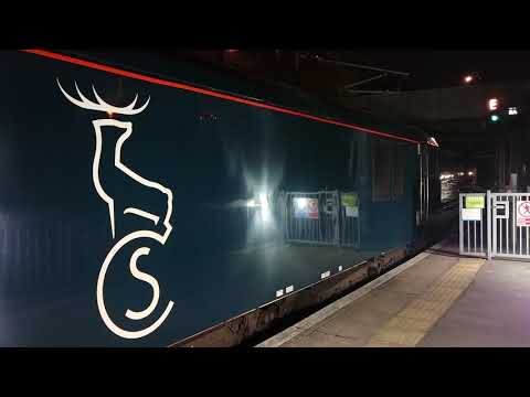 First ever Caledonian Sleeper with new mk5 carriages departs London Euston