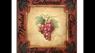 How To Paint Easy Elegant Grapes Tole and Decorative Painting by Patricia Rawlinson