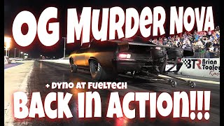 OG Murder Nova is Back In Action! 540 Gets Tuned at FuelTech and Runs Personal Best on Big Tires!!