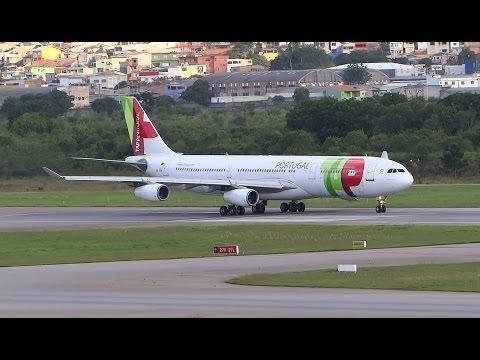 TAP Portugal Airbus A340-312 at Guarulhos GRU SBGR - Sao Paulo