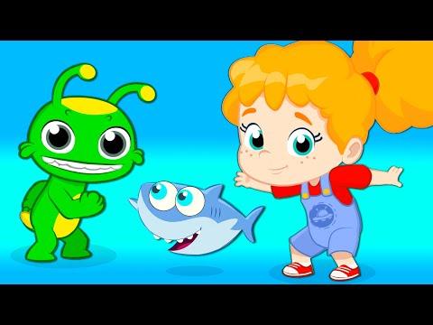 """""""Groovy Марсианин на BEACH & много животных Полный эпизод! Мультфильм для детей и детский сад Рифмы"""