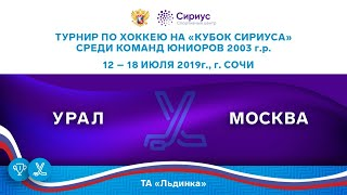 Хоккейный матч. 14.07.19. «Урал» - «Москва»
