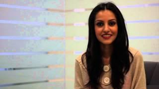 Miss India 2014, Koyal Rana addresses the finalists at Campus Princess 2015