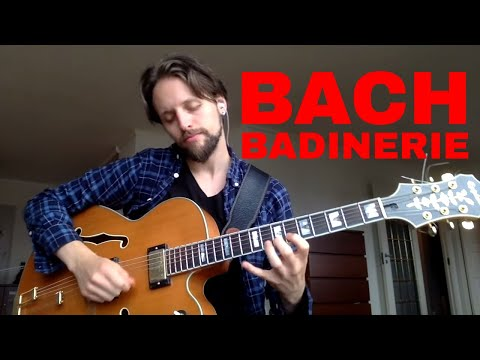 Bach played on guitar - Badinerie
