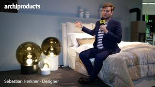 Imm Cologne 2017 | Sebastian Herkner talks about the new bed made with Schramm