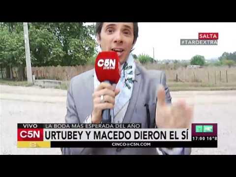 C5N - Entretenimiento: Robertito en el casamiento Urtubey - Macedo