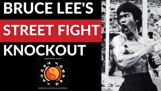 How To KNOCK Someone OUT in a Street Fight Bruce Lee's JKD