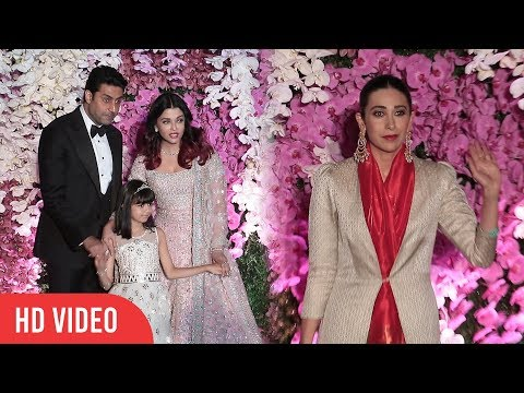 Abhishek Bachchan First LOVE Karishma Kapoor and Aishwarya Rai at Akash Ambani Shloka Mehta Wedding