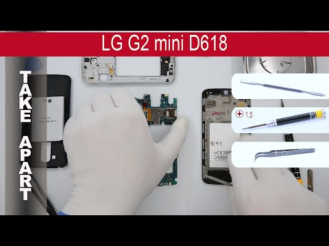 How to disassemble 📱 LG G2 mini D618, Take Apart, Tutorial