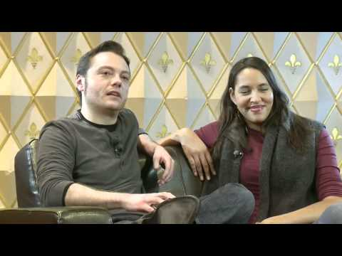 Tiziano Ferro & Cassandra Steen Interview (Part 1)