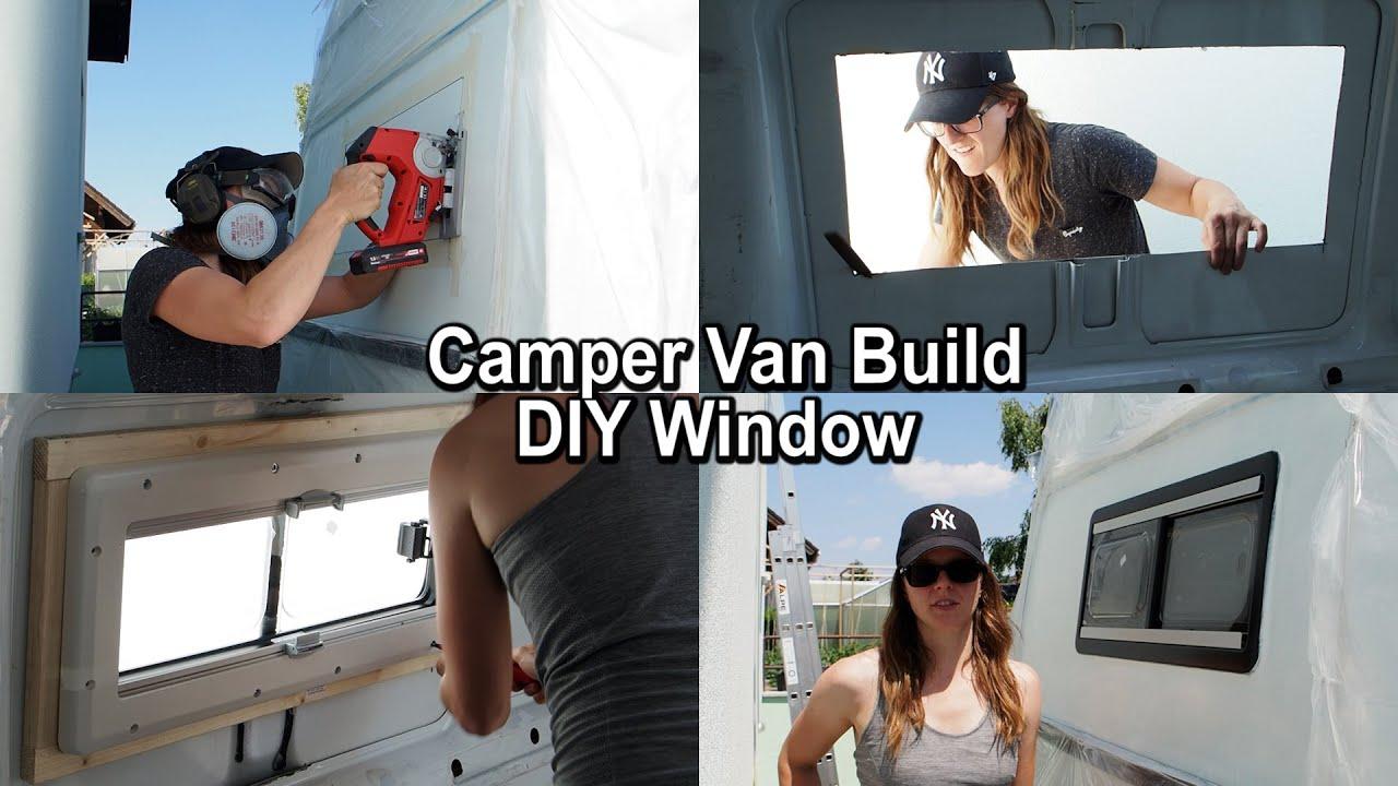 Camper Van Build - Window Installation (Ford Transit)