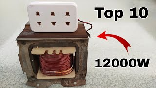 Top 10 Most Powerful Generator in the World. Using Super Magnet