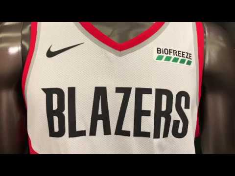 pretty nice 95f69 6d867 Portland Trail Blazers unveil Biofreeze sponsorship patch on jerseys for  2018-19 NBA season