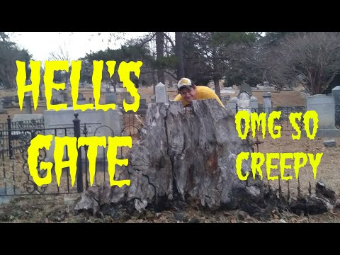 """""""HELL'S GATE"""" OAKWOOD CEMETERY SPARTANBURG SOUTH CAROLINA (this was the scariest thing ever)"""