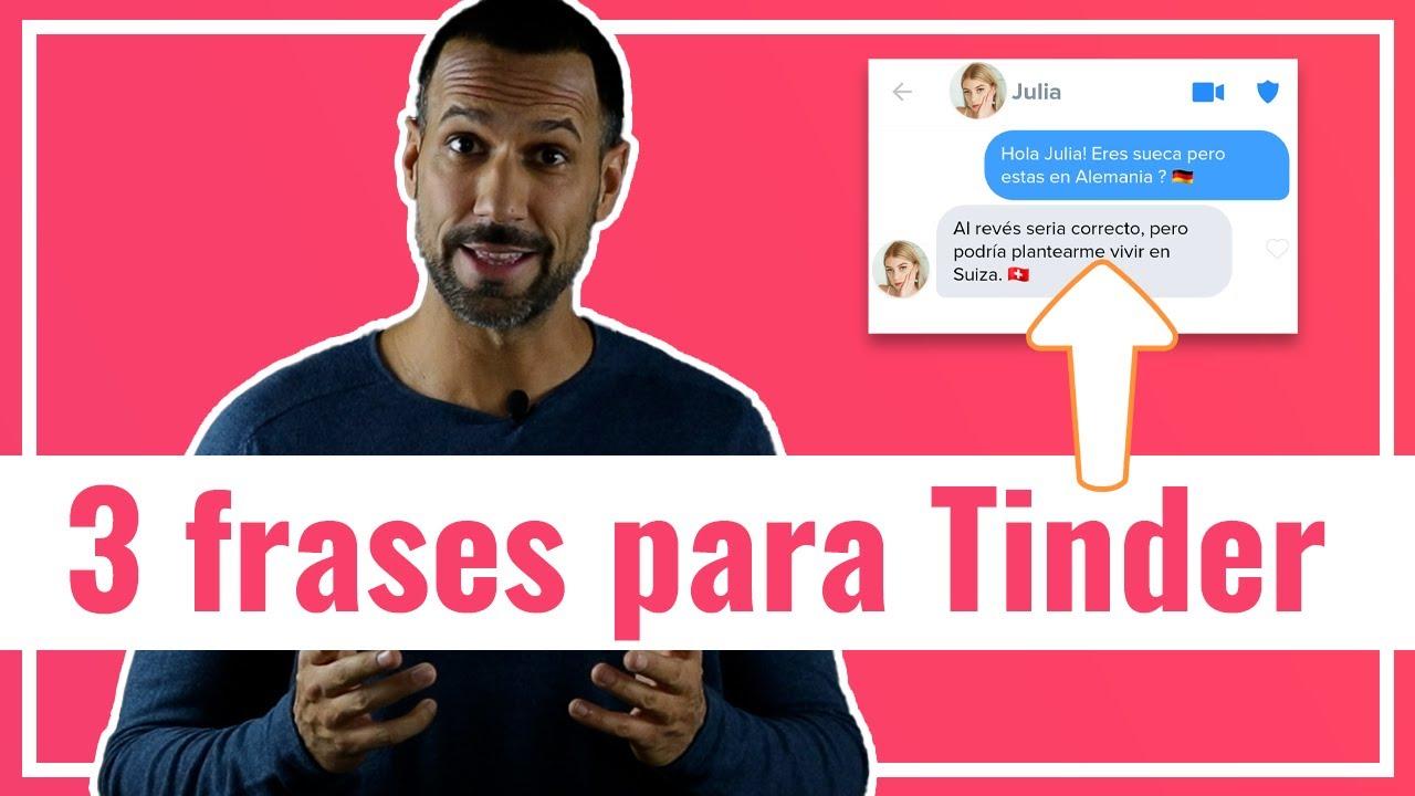 3 Frases Para Ligar En Tinder Cómo Ligar En Tinder Youtube