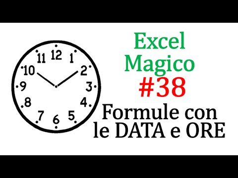 EM38 Calcolare Quante Ore Intercorrono Tra Due  DATE E Due ORARI Con Excel