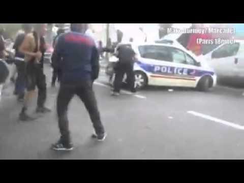 Arabs vs. police in Paris