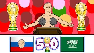 🏆5-0! russia vs saudi arabia🏆 (world cup 2018 parody goals highlights)