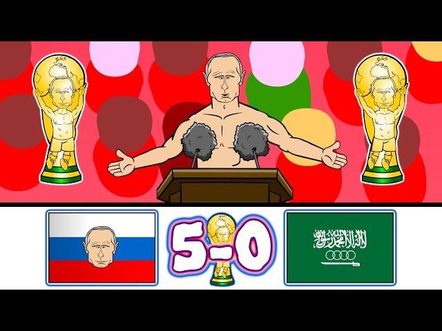 🏆5-0! RUSSIA vs SAUDI ARABIA🏆 (World Cup 2018 Parody Goals Highlights)