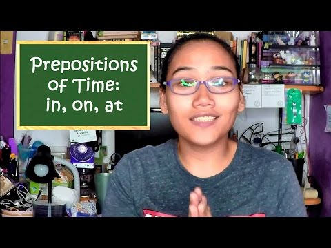 Prepositions Of Time (in, On, At) - Civil Service Exam - English Grammar