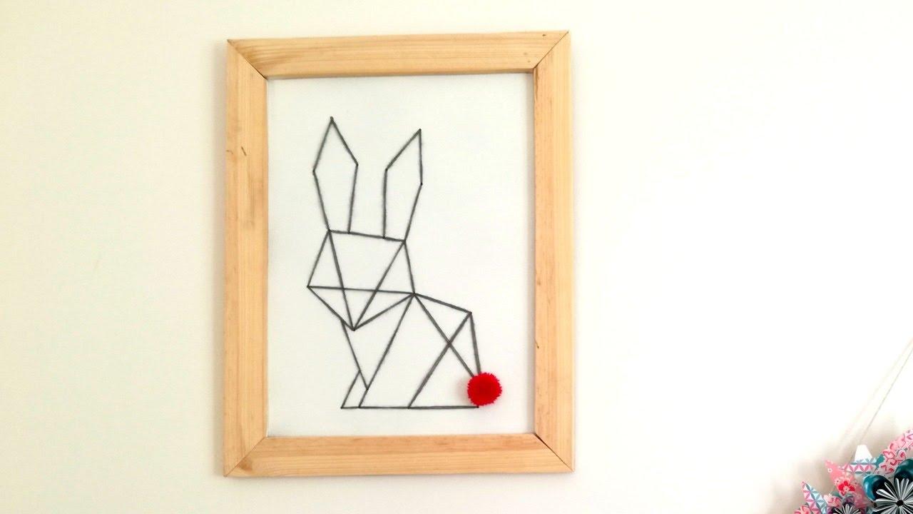 deco scandinave cadre lapin origami youtube. Black Bedroom Furniture Sets. Home Design Ideas