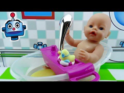 Bebé Y Bañera Interactivos De Baby Born - Juguetes De Baby Born