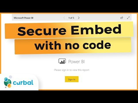 Embed Power BI With Login (Secure Embed) Or Public Viewing