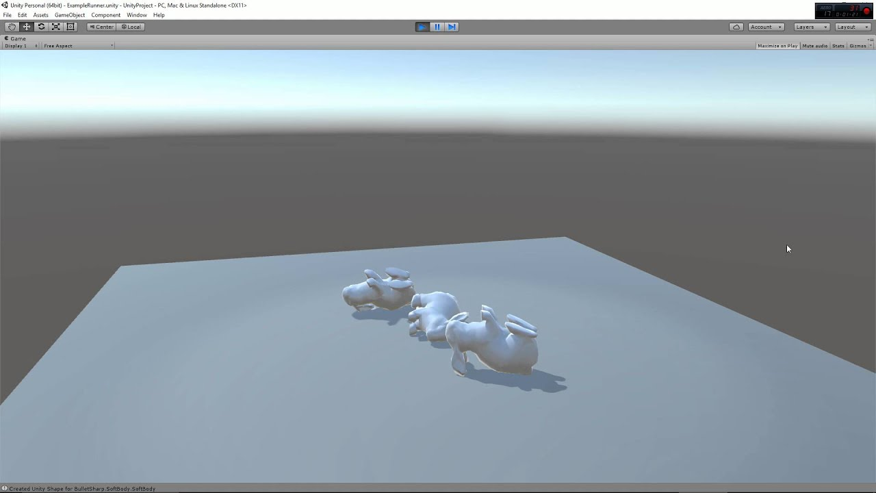 More Bullet Physics Demos In Unity3d: Softbodies