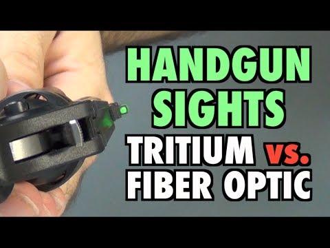 Handgun Sights: Tritium vs. Fiber Optic