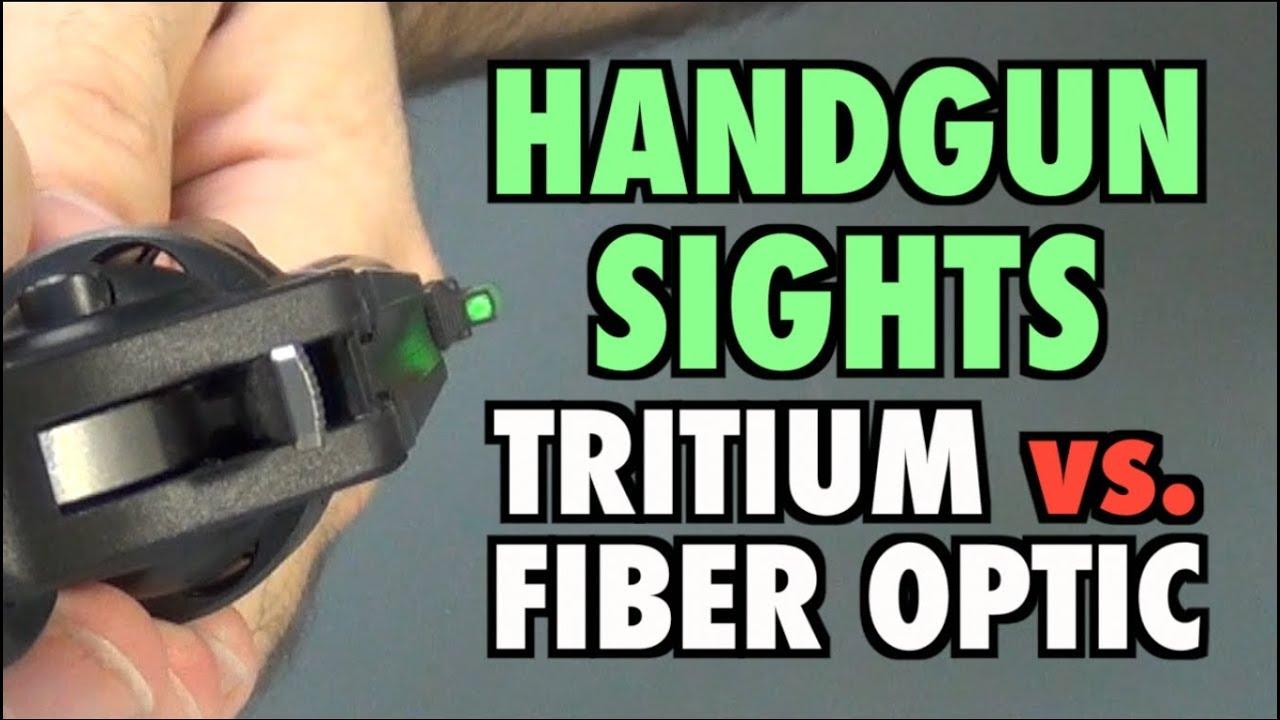 Handgun Sights Tritium Vs Fiber Optic Youtube