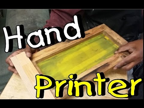 Joe Makes a Manual Bottle Printer