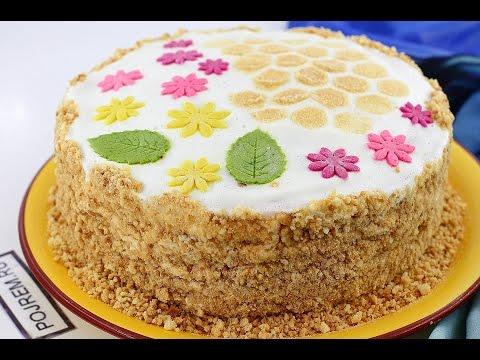 Рецепт торта Медовик со сметанным кремом