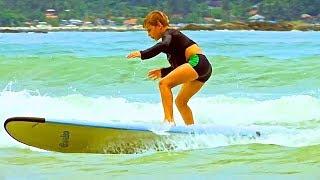 Обучение серфингу. Встать на серф. Часть 2 / Learning to surf. To rise on surf. Part 2