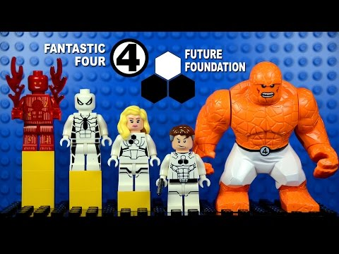 LEGO Future Foundation Fantastic Four Spiderman KnockOff Minifigures