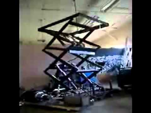 Hydraulic Stage Lift Pump - YouTube